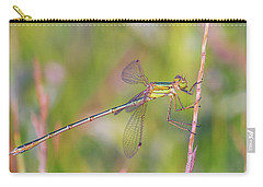 Shy Emerald Damselfly - Lestes Barbarus Carry-all Pouch