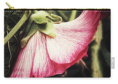 Carry-all Pouch featuring the photograph Shy Hollyhock by Karen Stahlros