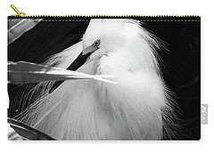 Shy Snowy Egret Carry-all Pouch