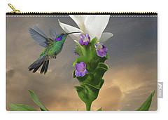 Siam Sparkling Curcuma And Hummingbird Carry-all Pouch