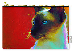 Siamese Cat 10 Painting Carry-all Pouch by Svetlana Novikova