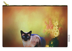 Siamese If You Please Carry-all Pouch by Suzanne Handel