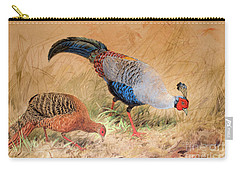 Siamese Pheasant  Carry-all Pouch by Joseph Wolf