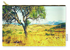 Carry-all Pouch featuring the photograph Sicilian Landscape With Tree by Silvia Ganora
