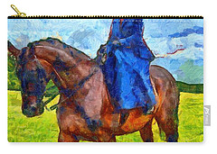 Carry-all Pouch featuring the photograph Side Saddle by Scott Carruthers