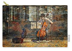 Sidewalk Cellist Carry-all Pouch