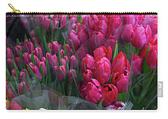 Carry-all Pouch featuring the photograph Sidewalk Flowers by Lora Lee Chapman