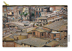 Siena Colored Roofs And Walls In Aerial View Carry-all Pouch by IPics Photography