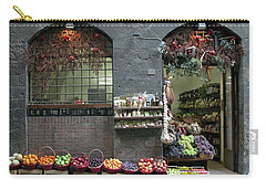 Carry-all Pouch featuring the photograph Siena Italy Fruit Shop by Mark Czerniec