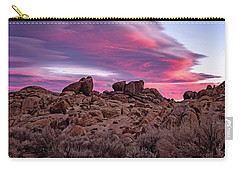 Sierra Clouds At Sunset Carry-all Pouch