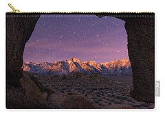 Carry-all Pouch featuring the photograph Sierra Nevada Moon by Dustin LeFevre