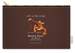 Sierra Newt - Color Newt - White Text Carry-all Pouch
