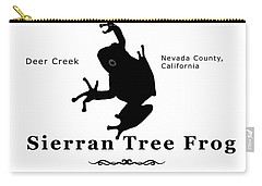 Sierran Tree Frog - Black Graphics Carry-all Pouch