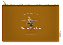 Sierran Tree Frog - Photo Frog, White Text Carry-all Pouch