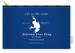 Sierran Tree Frog - White Graphic, White Text Carry-all Pouch