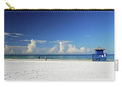 Carry-all Pouch featuring the photograph Siesta Key Life Guard Shack by Gary Wonning