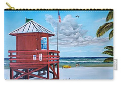 Siesta Key Red Lifeguard Shack Carry-all Pouch