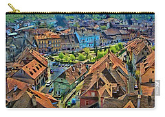 Sighisoara From Above Carry-all Pouch by Jeff Kolker