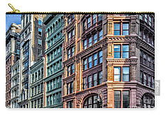 Carry-all Pouch featuring the photograph Sights In New York City - Colorful Buildings by Walt Foegelle