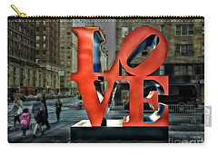 Sights In New York City - Love Statue Carry-all Pouch