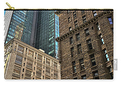 Carry-all Pouch featuring the photograph Sights In New York City - Old And New 2 by Walt Foegelle