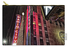 Sights In New York City - Radio City Carry-all Pouch