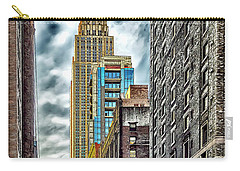 Carry-all Pouch featuring the photograph Sights In New York City - Skyscrapers 10 by Walt Foegelle