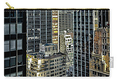 Carry-all Pouch featuring the photograph Sights In New York City - Skyscrapers Shot From Skyscraper by Walt Foegelle