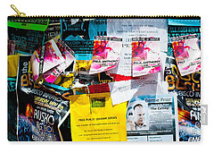 Carry-all Pouch featuring the photograph Signs Everywhere Signs by Colleen Coccia