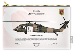 Carry-all Pouch featuring the digital art Sikorsky Uh-60 Blackhawk by Arthur Eggers