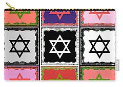 Silberzweig - Judaica Modern Star Coral Carry-all Pouch