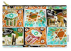 Silberzweig - Scenes Of Israel - Aqua Copper - Carry-all Pouch