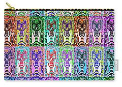Silberzweig - Sugar Skulls And Owls - Bone Rainbow -  Carry-all Pouch