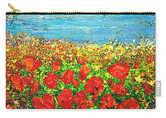 Carry-all Pouch featuring the painting  Silence by Teresa Wegrzyn