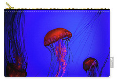 Carry-all Pouch featuring the photograph Silent Jellies by Jeff Folger