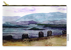 Carry-all Pouch featuring the painting Silent Sentinels by Patricia Griffin Brett