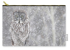 Carry-all Pouch featuring the photograph Silent Snowfall Portrait by Everet Regal