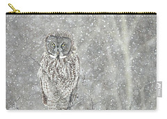 Silent Snowfall Portrait II Carry-all Pouch