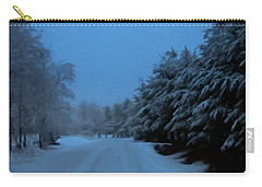 Carry-all Pouch featuring the photograph Silent Winter Night  by David Dehner