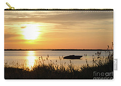 Carry-all Pouch featuring the photograph Silhouette By Sunset by Kennerth and Birgitta Kullman