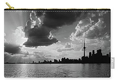 Silhouette Cn Tower Carry-all Pouch by Nick Mares