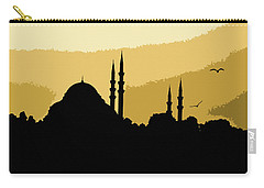 Silhouette Of Mosques In Istanbul Carry-all Pouch