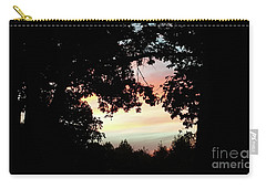 Fall Silhouette Sunset Carry-all Pouch by Donna Brown