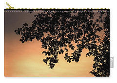 Silhouette Tree In The Dawn Sky Carry-all Pouch by Jingjits Photography