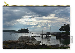 Silhouetted Views From Bustin's Island In Maine Carry-all Pouch by DejaVu Designs