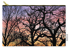 Carry-all Pouch featuring the photograph Silhouettes At Sunset by Chris Berry
