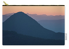 Carry-all Pouch featuring the photograph Silhouettes At Sunset, No. 2 by Belinda Greb