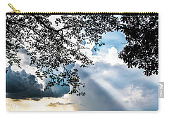 Carry-all Pouch featuring the photograph Silhouettes At The Overlook by Shelby Young