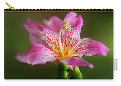 Silk Floss Flower Carry-all Pouch