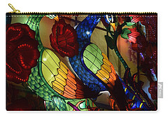 Silk Peacocks Carry-all Pouch